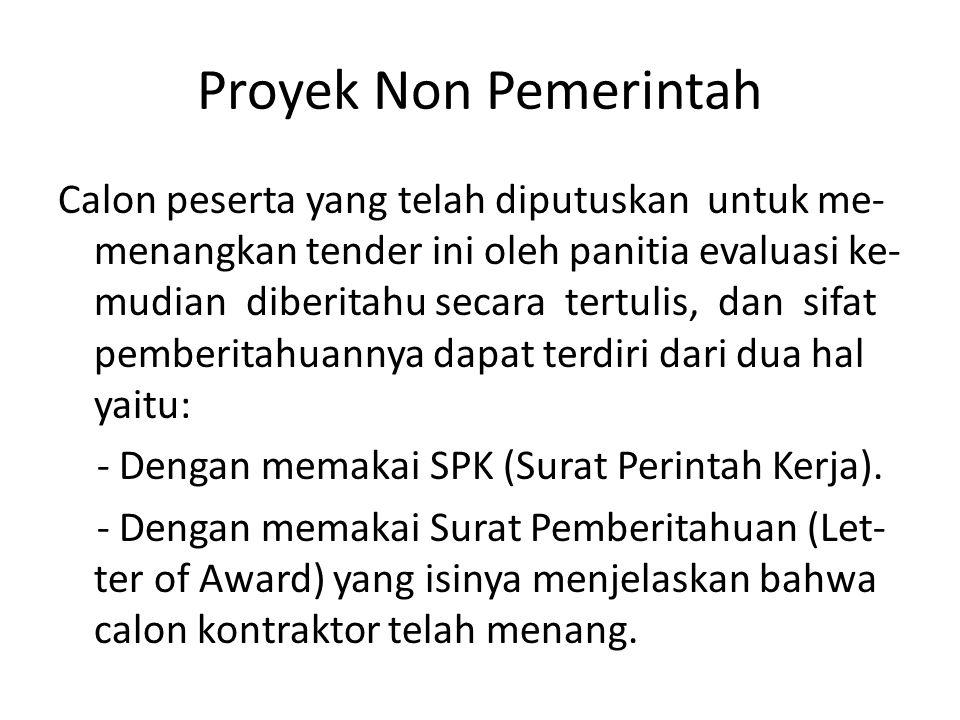 Proyek Non Pemerintah