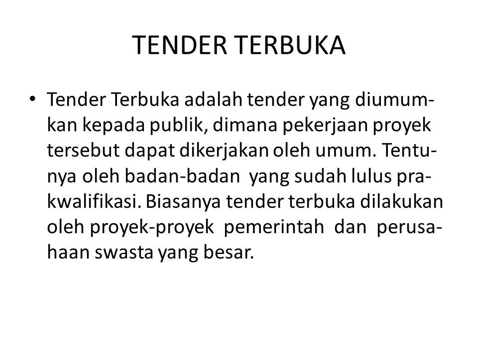 TENDER TERBUKA