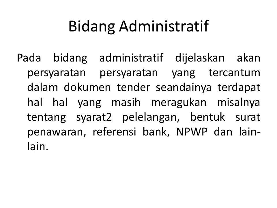 Bidang Administratif