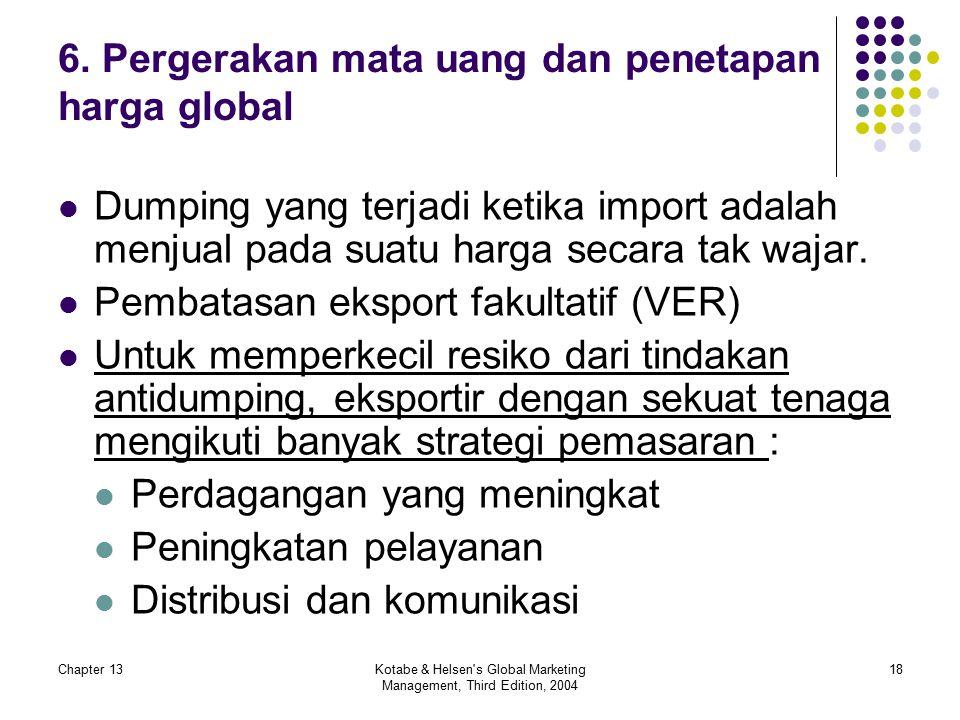 6. Pergerakan mata uang dan penetapan harga global