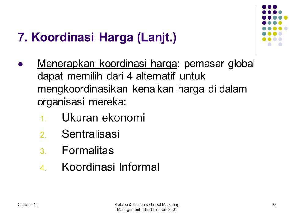 7. Koordinasi Harga (Lanjt.)