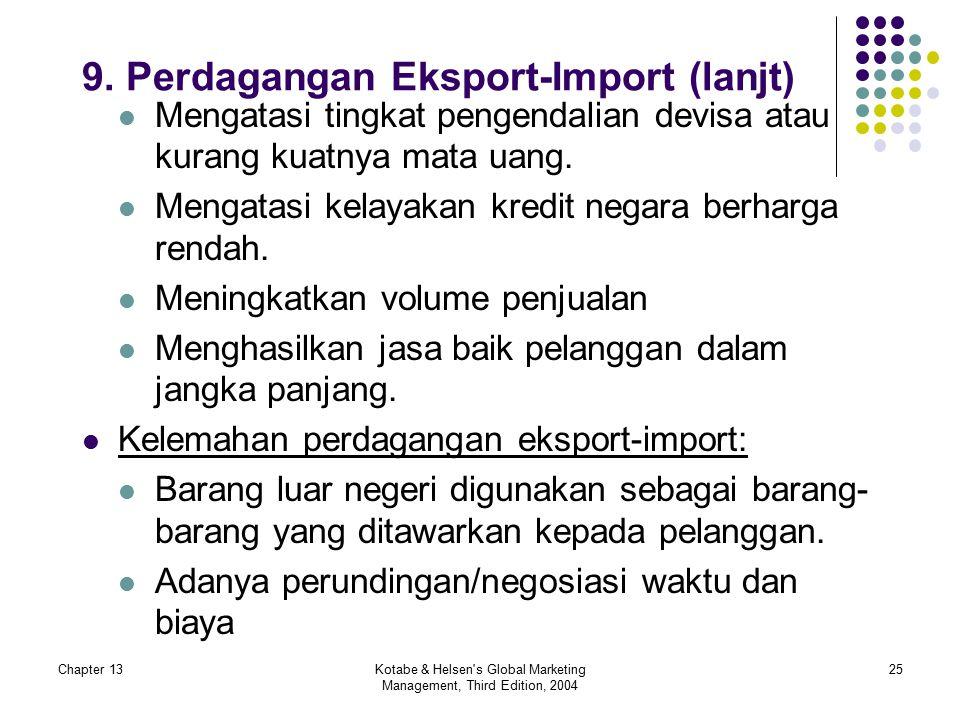 9. Perdagangan Eksport-Import (lanjt)