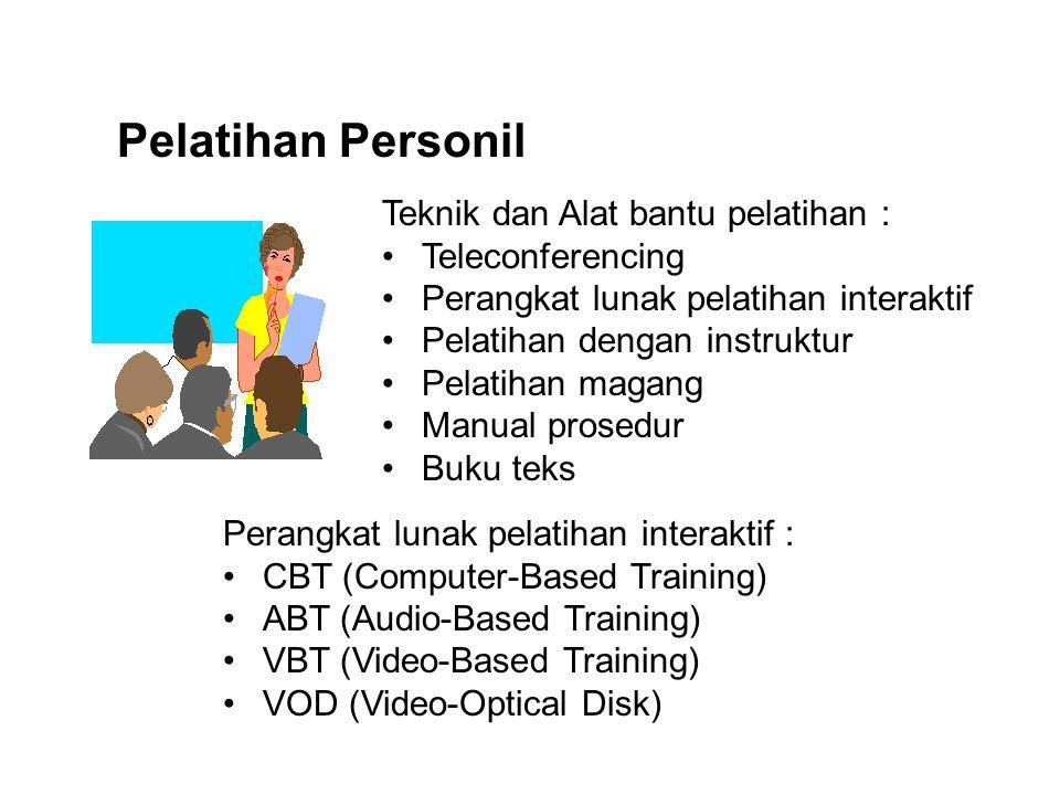 Pelatihan Personil Teknik dan Alat bantu pelatihan : Teleconferencing
