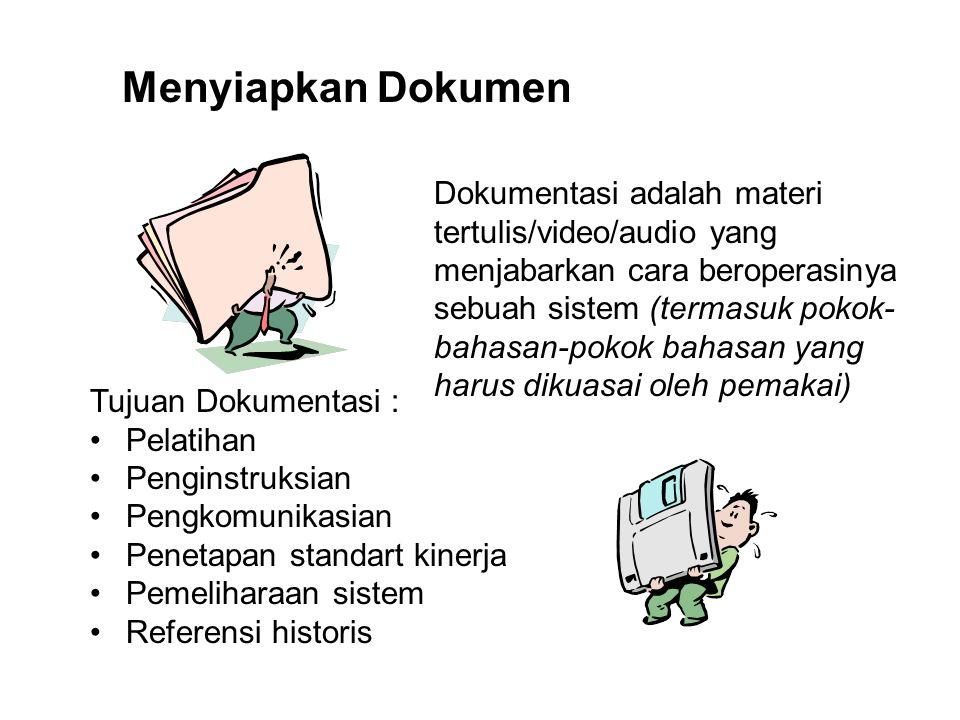 Menyiapkan Dokumen