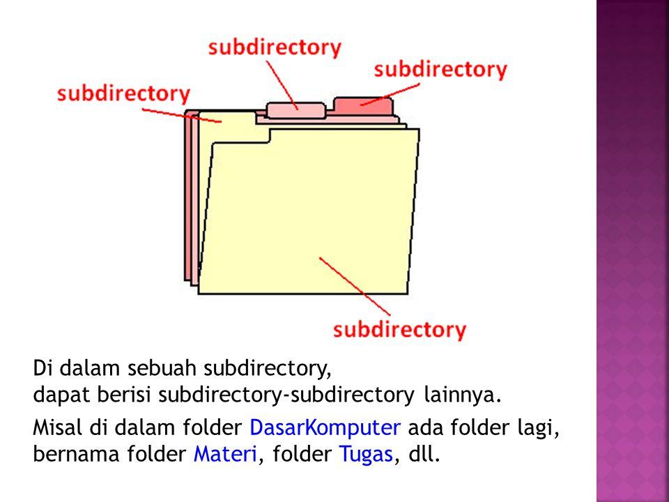 Di dalam sebuah subdirectory,