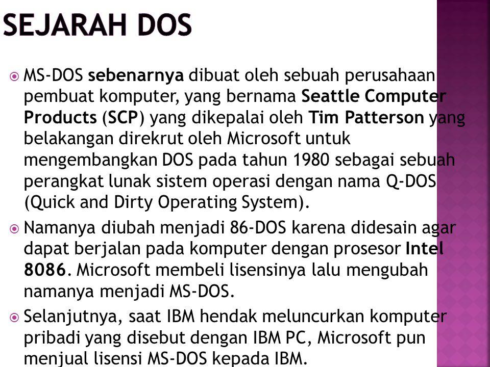 Sejarah DOS