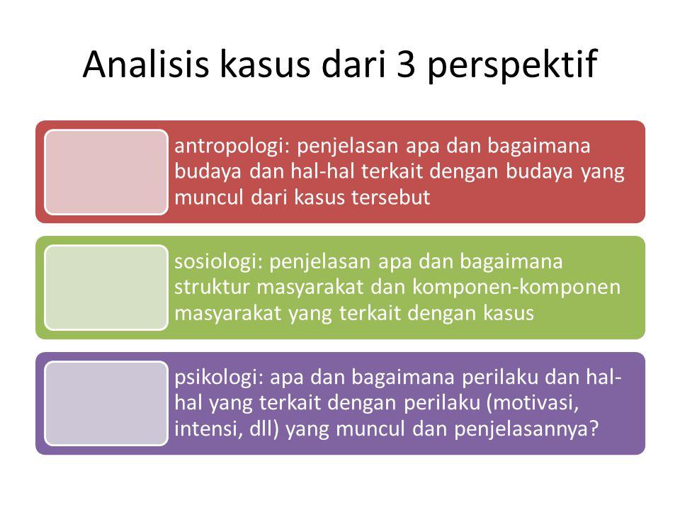 Analisis kasus dari 3 perspektif
