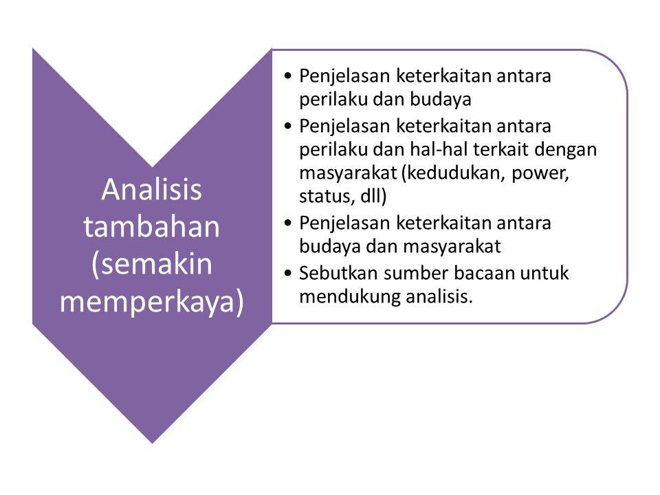 Analisis tambahan (semakin memperkaya)