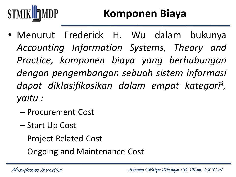 Komponen Biaya
