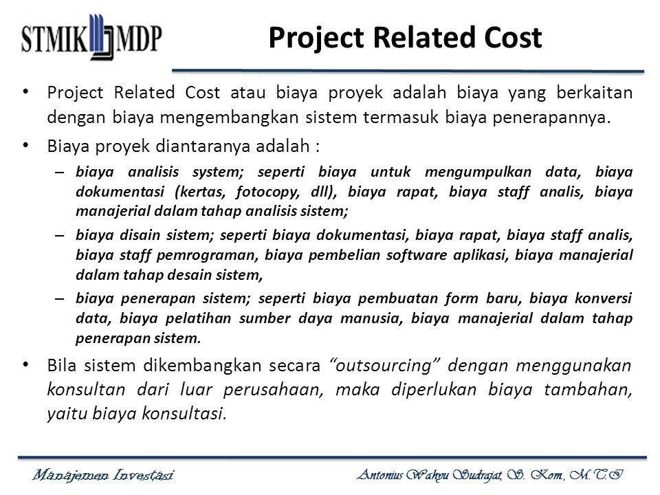 Project Related Cost