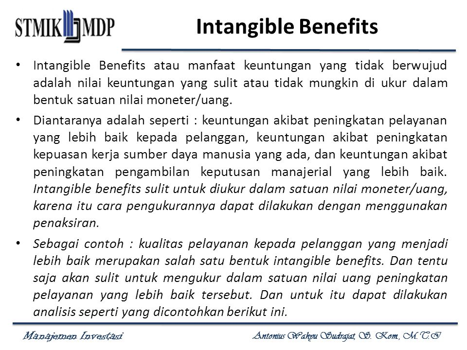 Intangible Benefits
