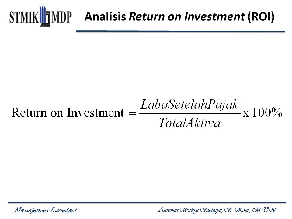 Analisis Return on Investment (ROI)