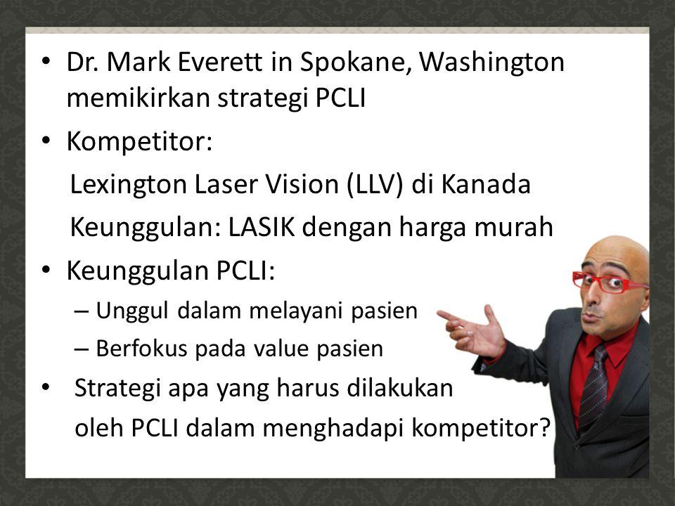 Dr. Mark Everett in Spokane, Washington memikirkan strategi PCLI