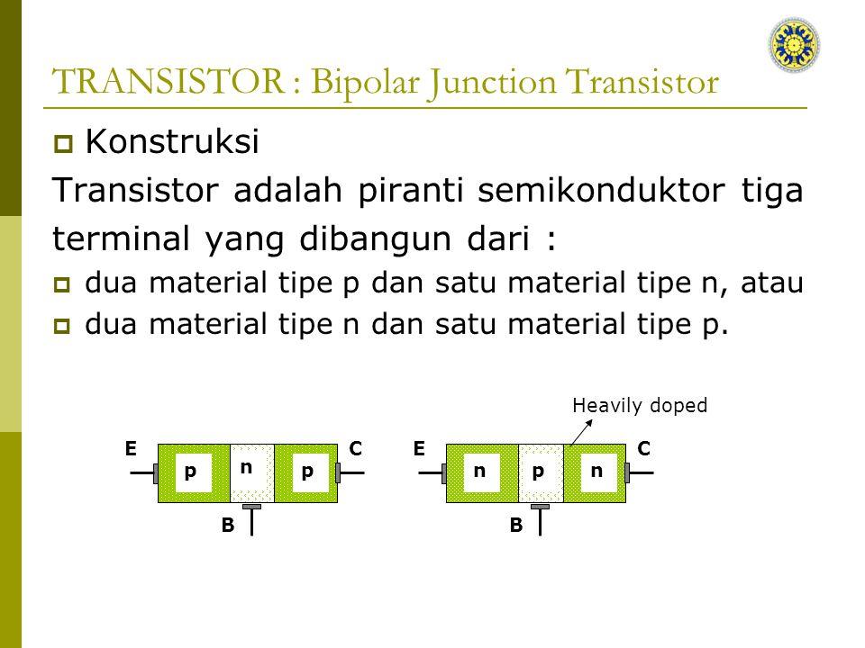 TRANSISTOR : Bipolar Junction Transistor