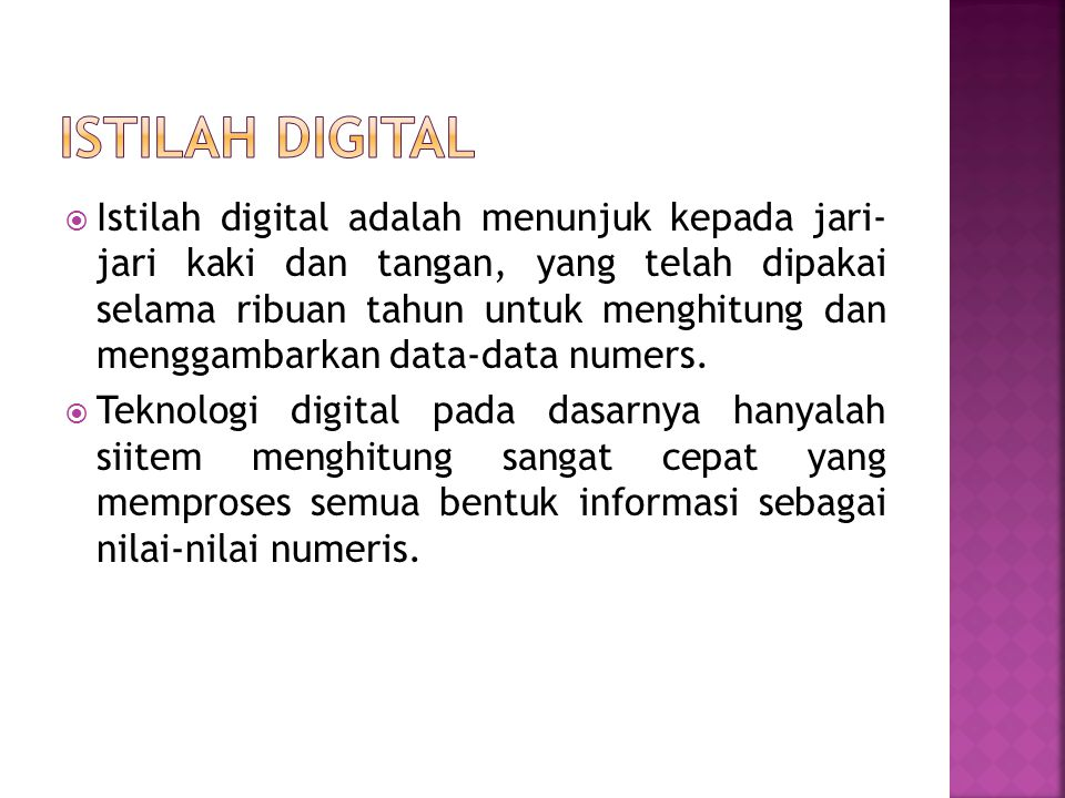 Istilah Digital