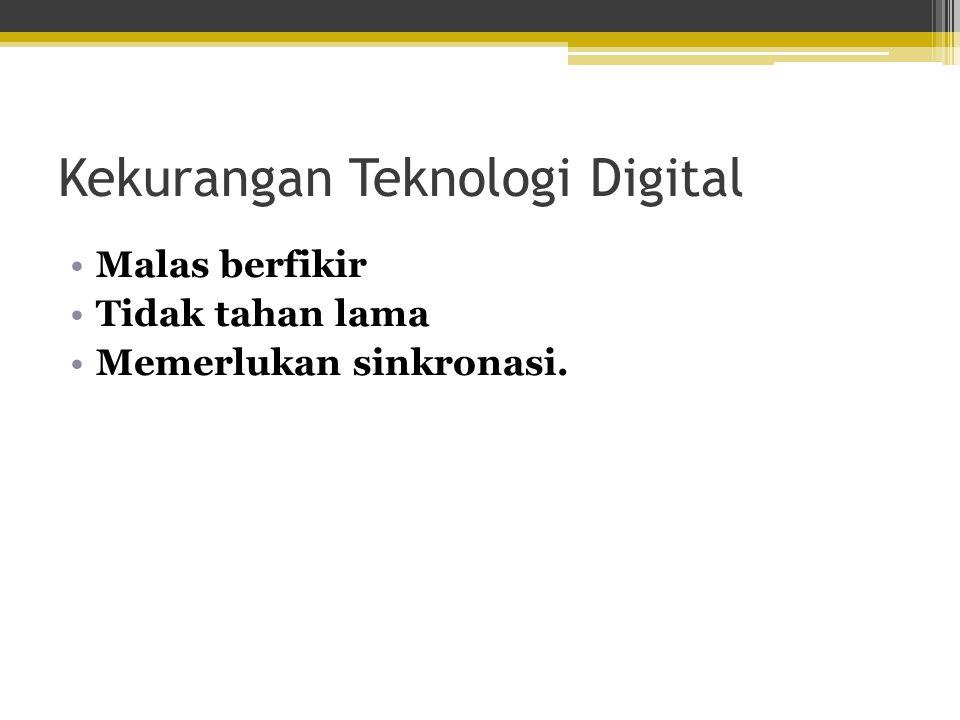 Kekurangan Teknologi Digital