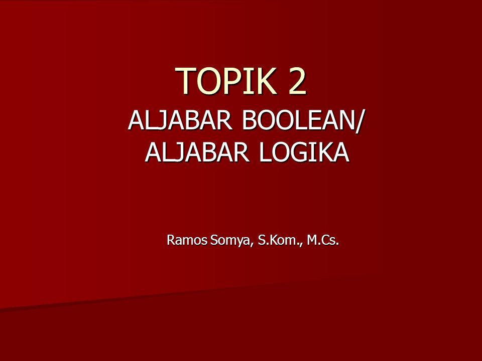 ALJABAR BOOLEAN/ ALJABAR LOGIKA