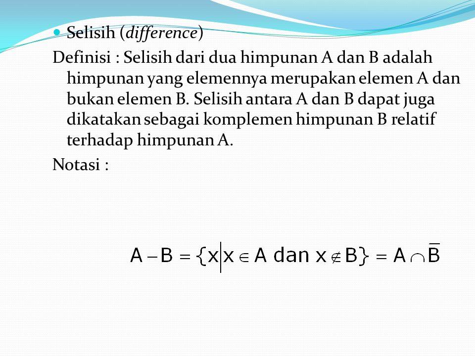 Selisih (difference)