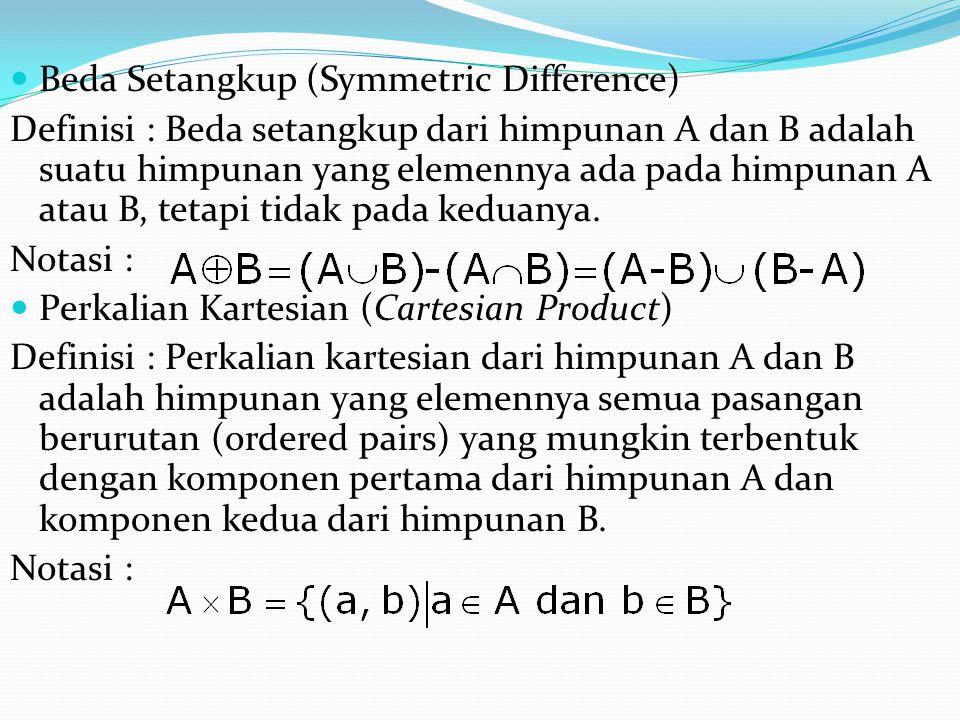 Beda Setangkup (Symmetric Difference)