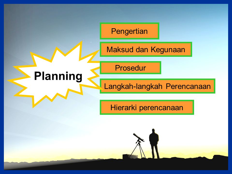 Langkah-langkah Perencanaan
