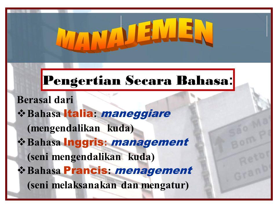 Pengertian Secara Bahasa: