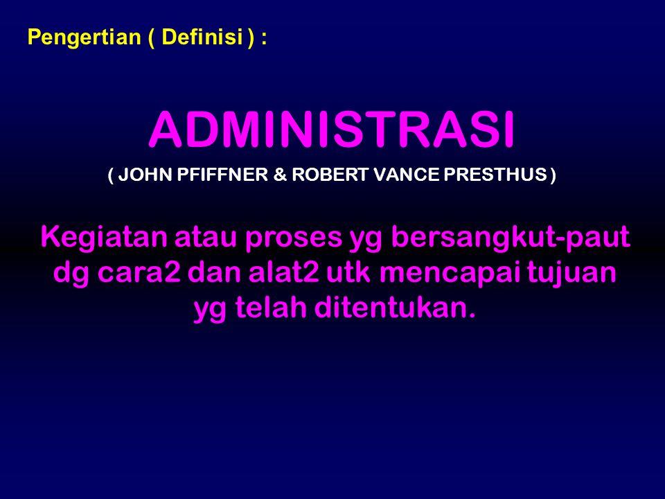( JOHN PFIFFNER & ROBERT VANCE PRESTHUS )