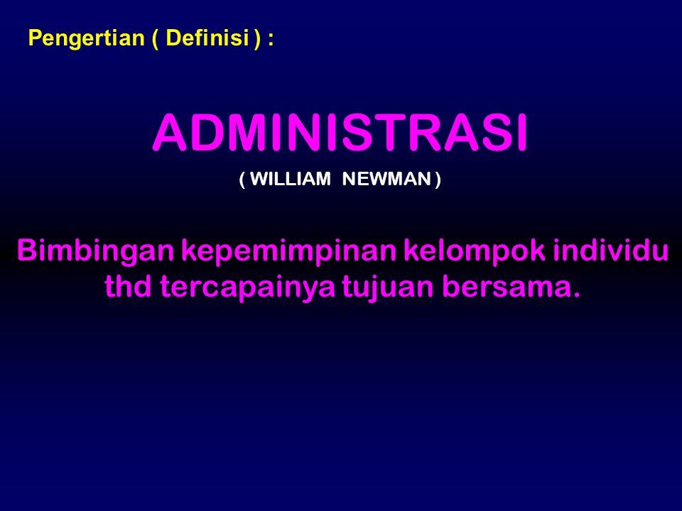 Pengertian ( Definisi ) :