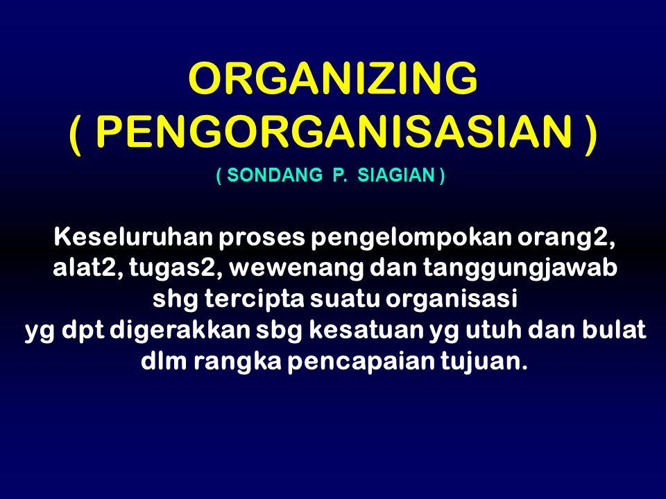 ORGANIZING ( PENGORGANISASIAN )
