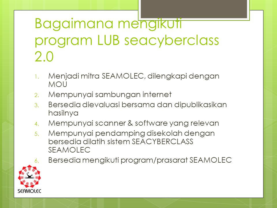 Bagaimana mengikuti program LUB seacyberclass 2.0