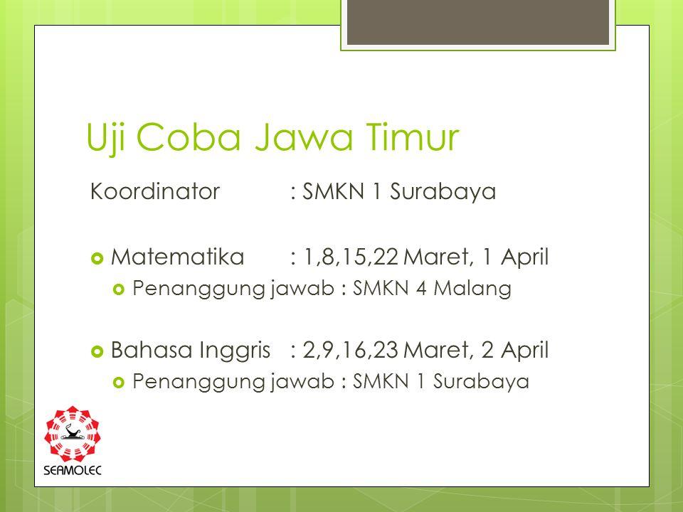 Uji Coba Jawa Timur Koordinator : SMKN 1 Surabaya