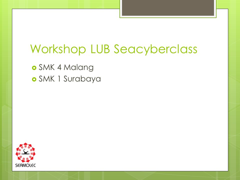 Workshop LUB Seacyberclass