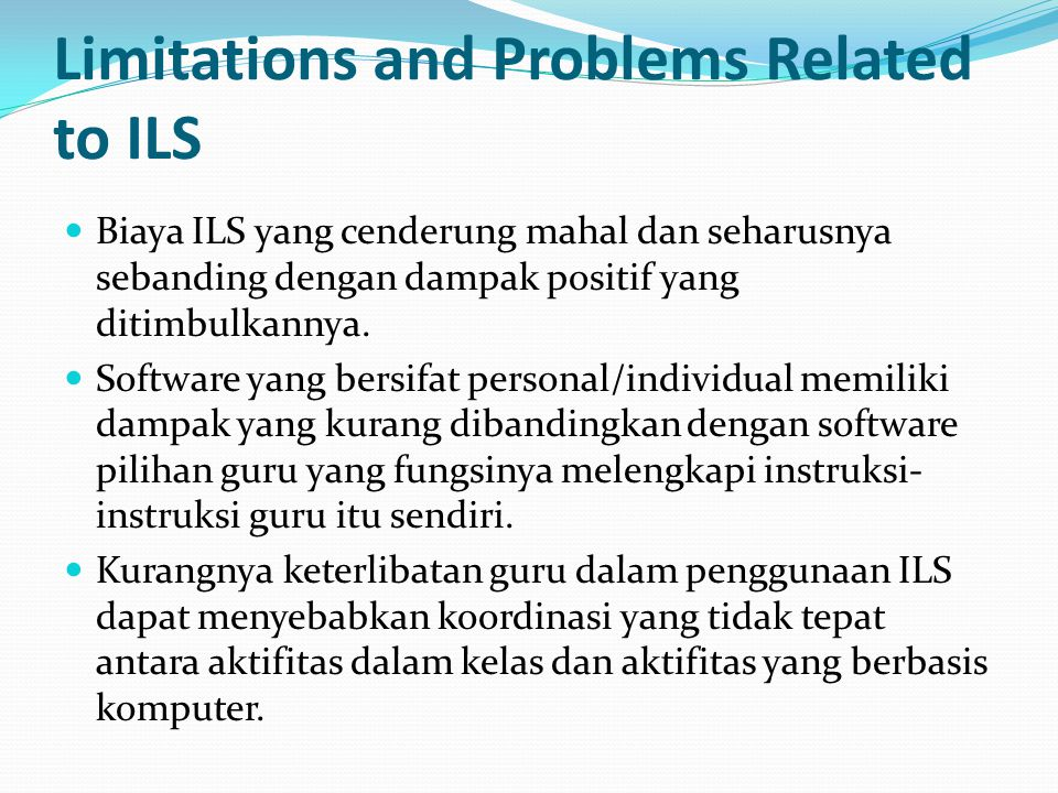 Limitations and Problems Related to ILS