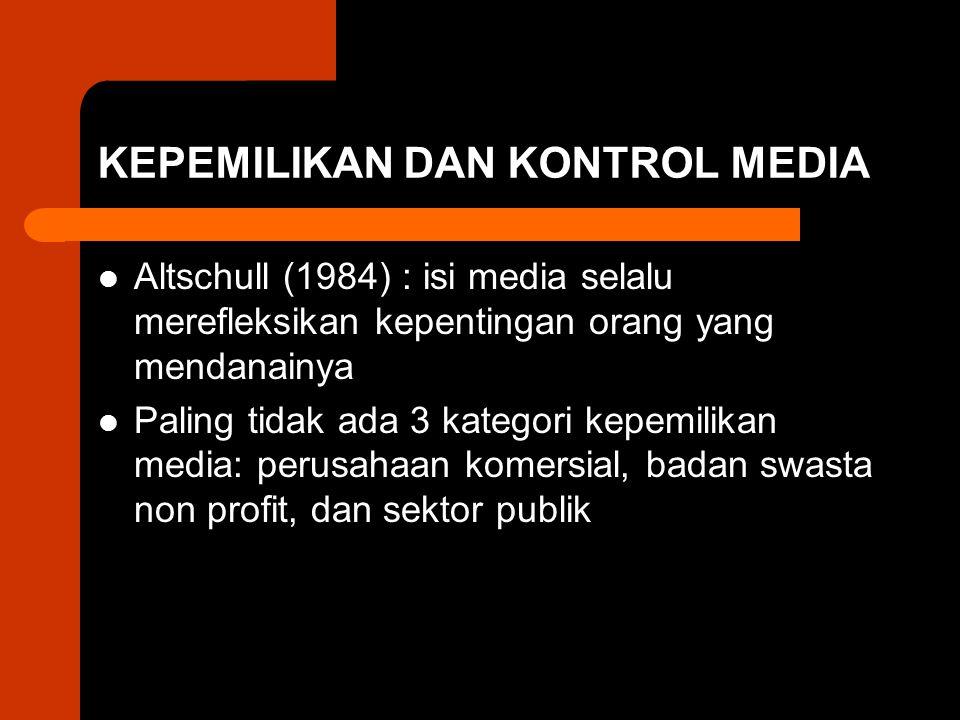 KEPEMILIKAN DAN KONTROL MEDIA