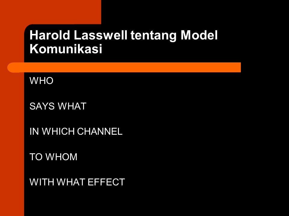 Harold Lasswell tentang Model Komunikasi
