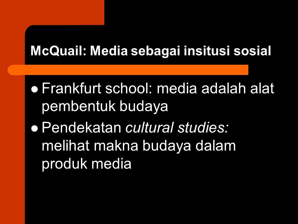 McQuail: Media sebagai insitusi sosial