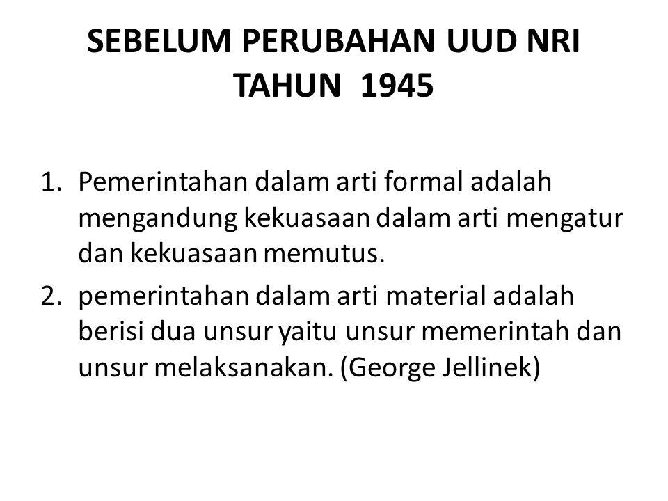 SEBELUM PERUBAHAN UUD NRI TAHUN 1945