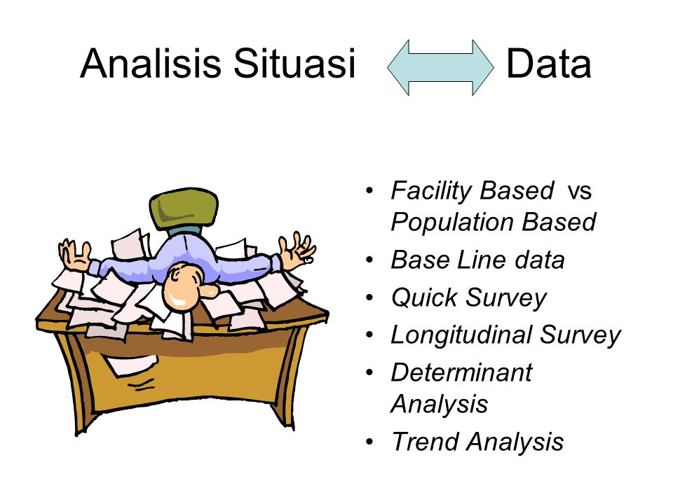 Analisis Situasi Data Facility Based vs Population Based
