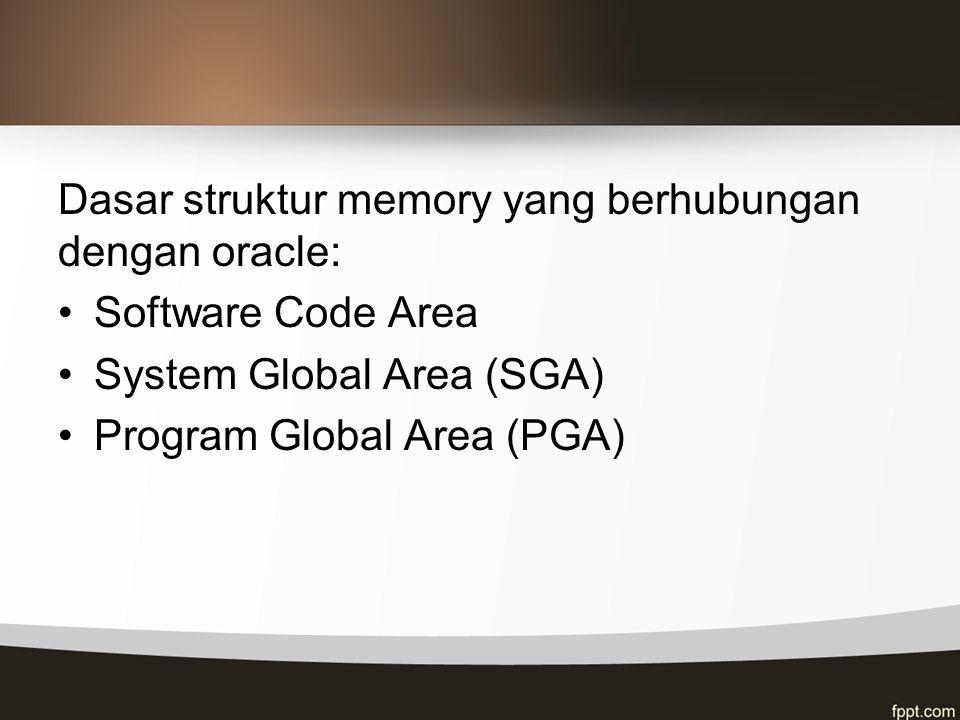 Dasar struktur memory yang berhubungan dengan oracle: