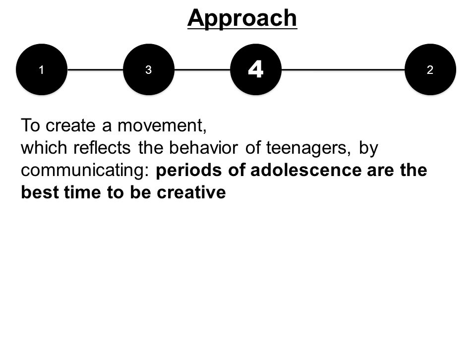 Approach 4 To create a movement,