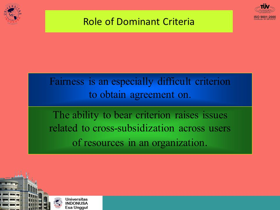 Role of Dominant Criteria