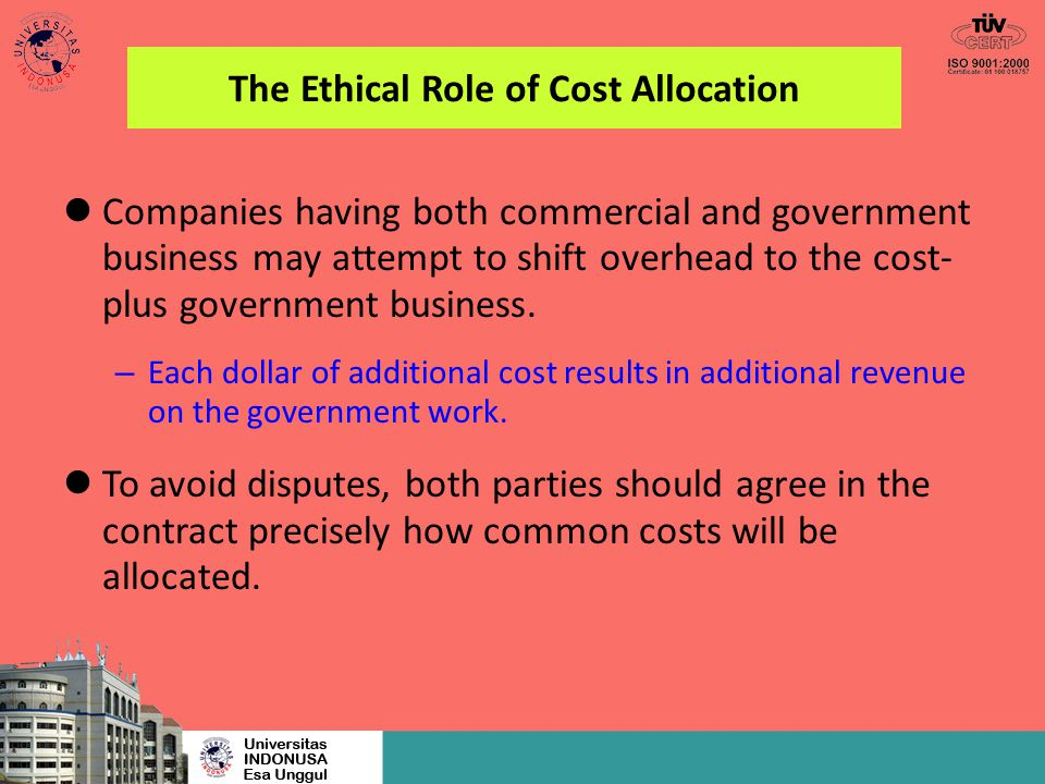 The Ethical Role of Cost Allocation
