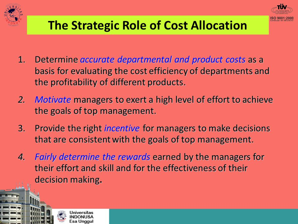 The Strategic Role of Cost Allocation