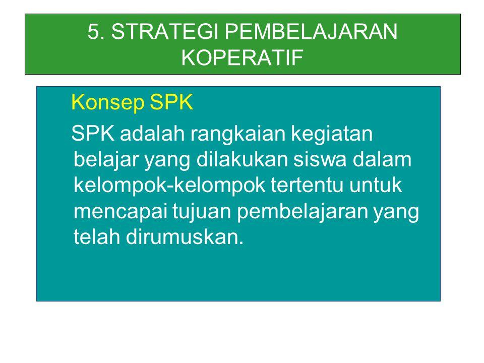 5. STRATEGI PEMBELAJARAN KOPERATIF