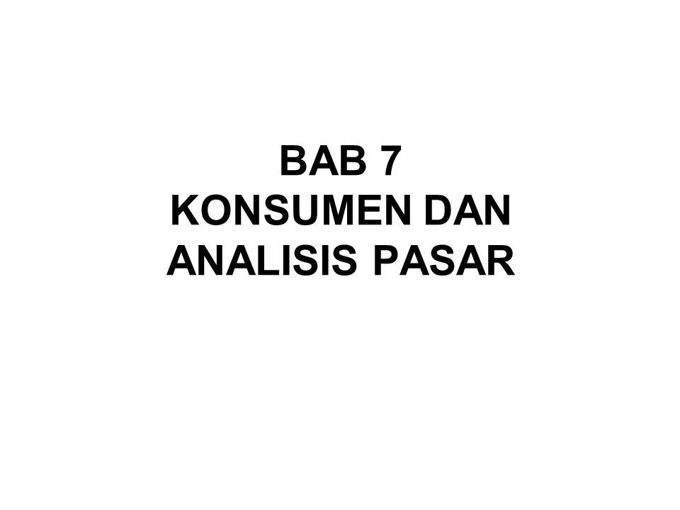 BAB 7 KONSUMEN DAN ANALISIS PASAR