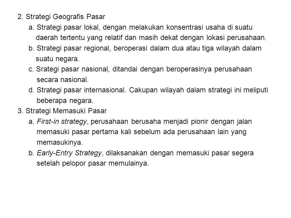 2. Strategi Geografis Pasar