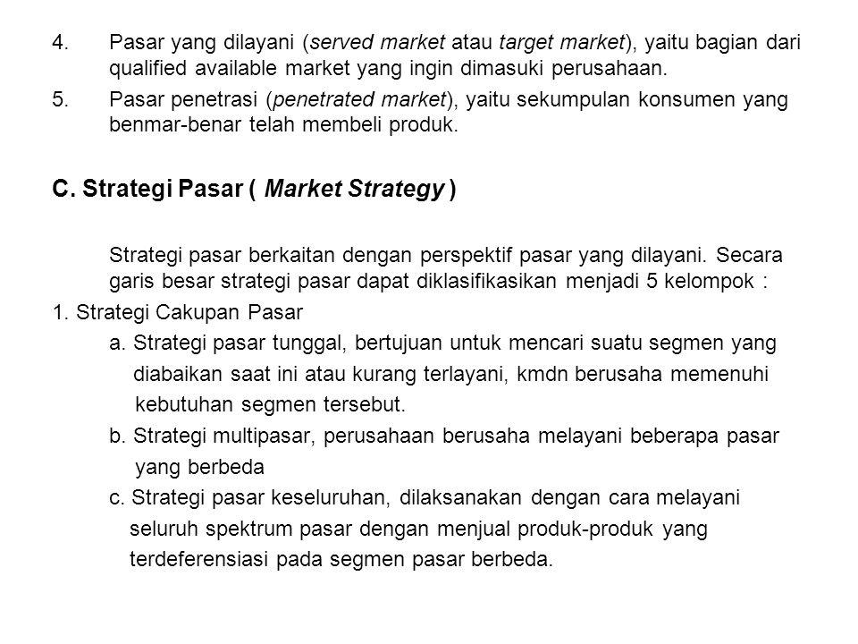 C. Strategi Pasar ( Market Strategy )