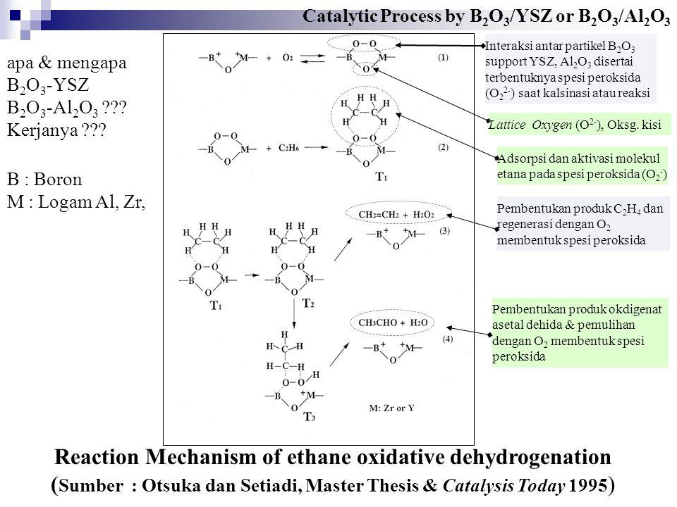 Reaction Mechanism of ethane oxidative dehydrogenation