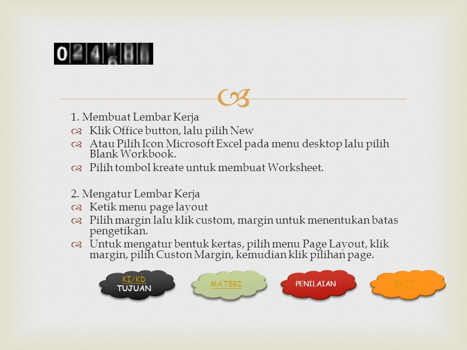 Klik Office button, lalu pilih New