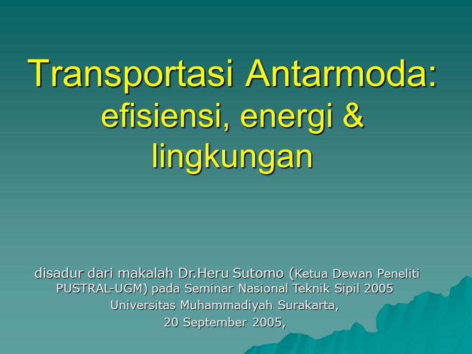 Transportasi Antarmoda: efisiensi, energi & lingkungan