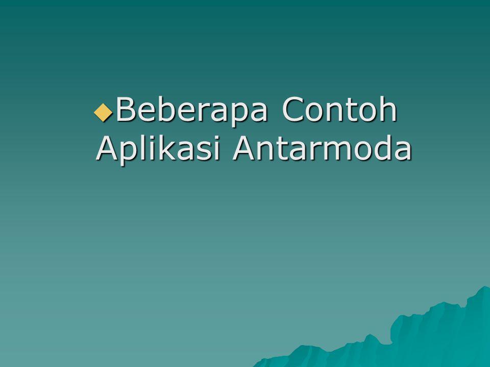 Beberapa Contoh Aplikasi Antarmoda
